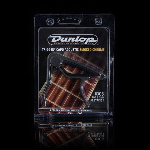 Dunlop Trigger Capo Acoustic Curved Smoked Chrome 83CS