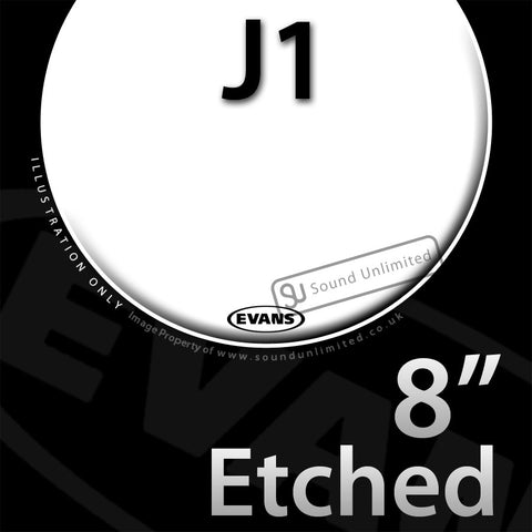 Evans E08J1 8 inch J1 Jazz Etched Batter Clear 1-ply