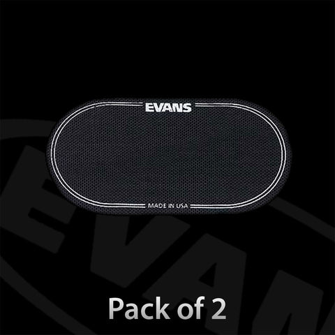 Evans EQPB2 Bass Drum Patch for Double Pedal Black (Pack of 2)