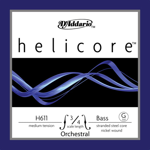 Daddario Helic Orch Bass G 3/4 Med - H611 3/4M