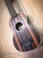 Kala KA-EBY-S Soprano Ebony Striped Top, Back & Sides Ukulele