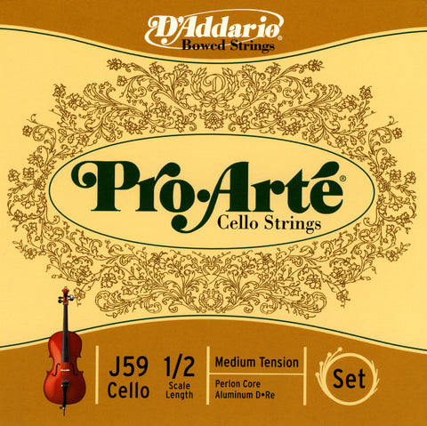 Daddario Proarte Cello Set 1/2 Med - J59 1/2M