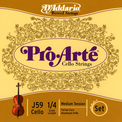 Daddario Proarte Cello Set 1/4 Med - J59 1/4M