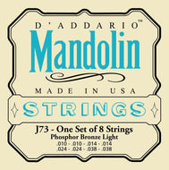 D'Addario J73 Mandolin Strings, Phosphor Bronze, Light, 10-38