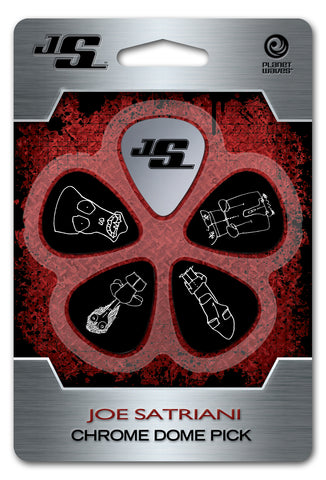 Planet Waves Joe Satriani Chrome Dome Plectrums JSCD-01