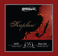 D'Addario Kaplan Bass String Set, 3/4 Scale, Medium Tension - K610 3/4M