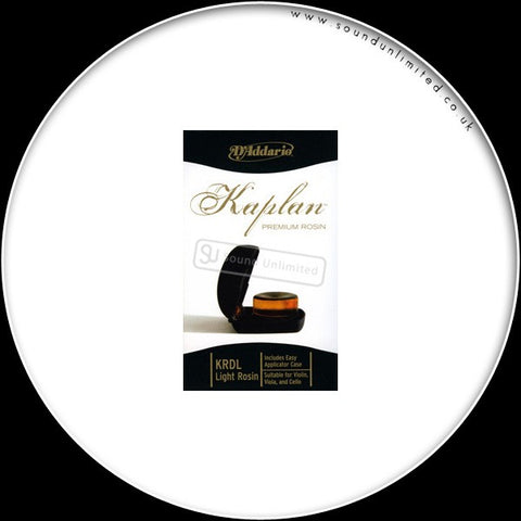 Daddario Kaplan Prem Light Rosin W/Case - Krdl