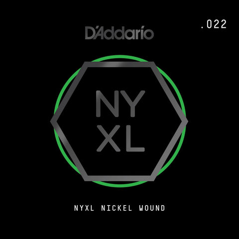 D'Addario NYXL Nickel Wound Electric Guitar Single String, .022