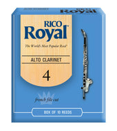 Rico Royal Alto Clarinet Reeds, Strength 4.0, 10-pack - RDB1040