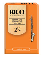 Rico Contrabass Clarinet Reeds, Strength 2.5, 10-pack - RFA1025