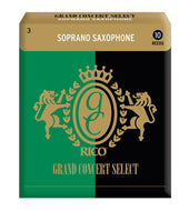 Rico Grand Concert Select Soprano Sax Reeds, Strength 3.0, 10-pack - RGC10SSX300