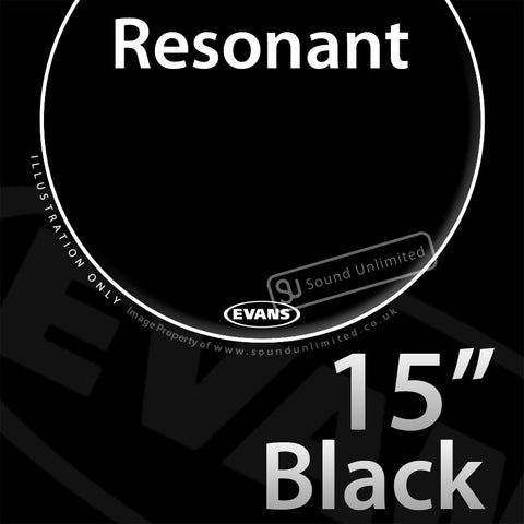 Evans TT15RBG 15 inch Resonant Black