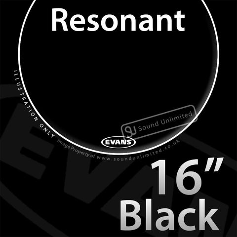 Evans TT16RBG 16 inch Resonant Black