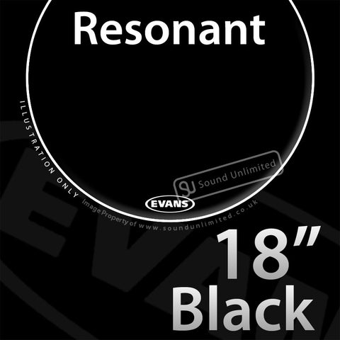 Evans TT18RBG 18 inch Resonant Black