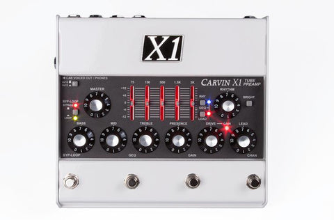Carvin X1 All Tube Guitar Preamp Pedal UK