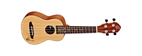 Ortega Soprano. Spruce top,Sapele back and sides Laser engraved. Satin finish. RU5-SO