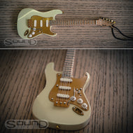 Fender 50's White/Gold Stratocaster Mini hanging guitar
