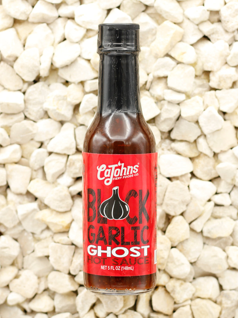 CaJohns Fiery Foods Co. - Black Garlic Ghost Hot Sauce