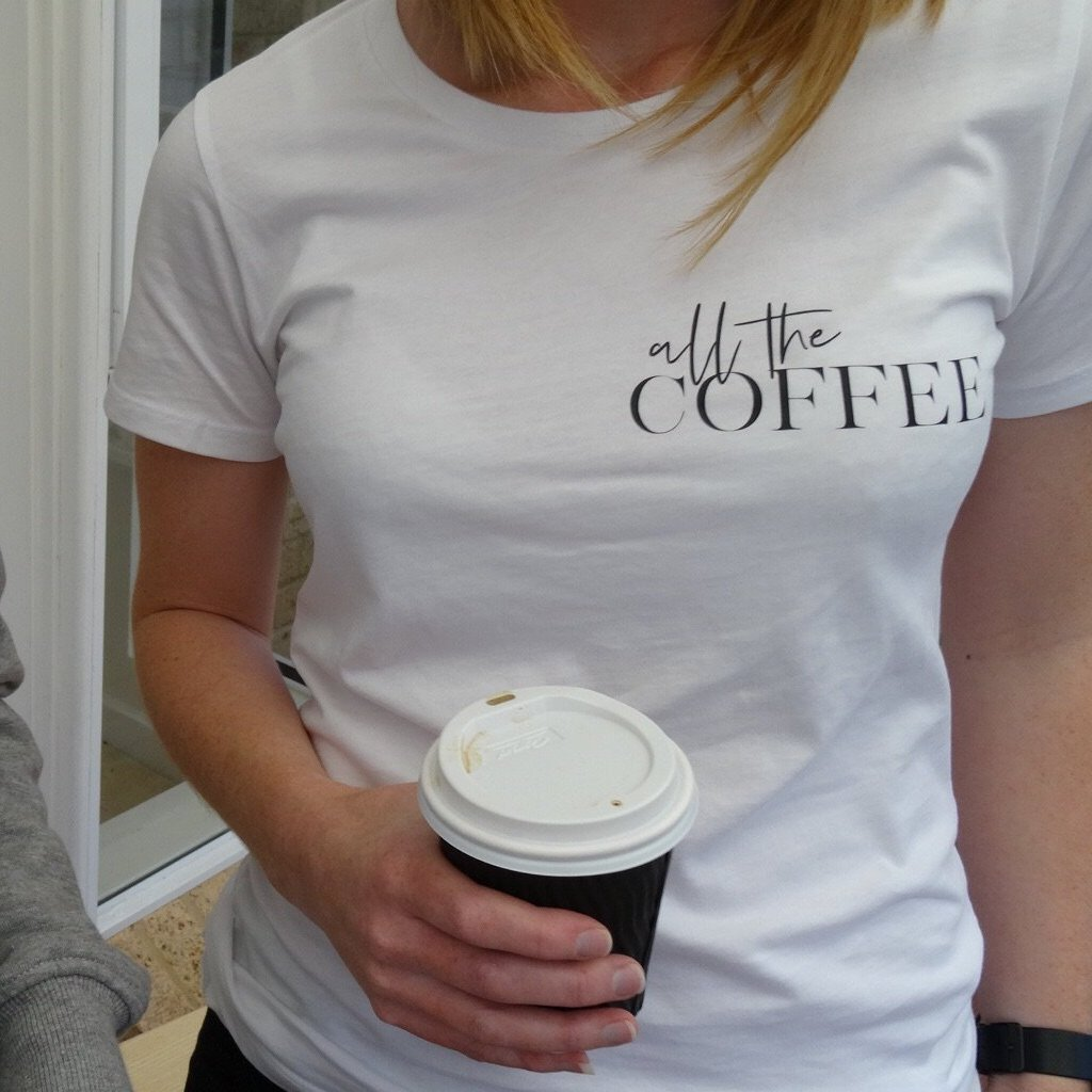 all the COFFEE tees - Max + Lauren