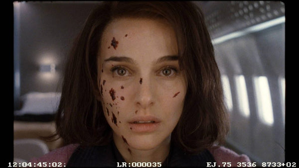 Close-up on Natalie Portman on the Air Force One set