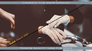 16mm Kodak Vision3 500T Premium Cinematic Film Grain Overlay