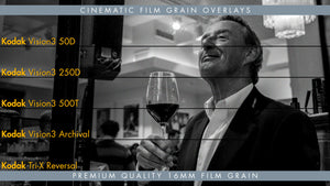 Premium 16mm Film Grain Overlays Available in 4k & HD