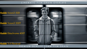 35mm Film Grain Overlays Available in 4k & HD