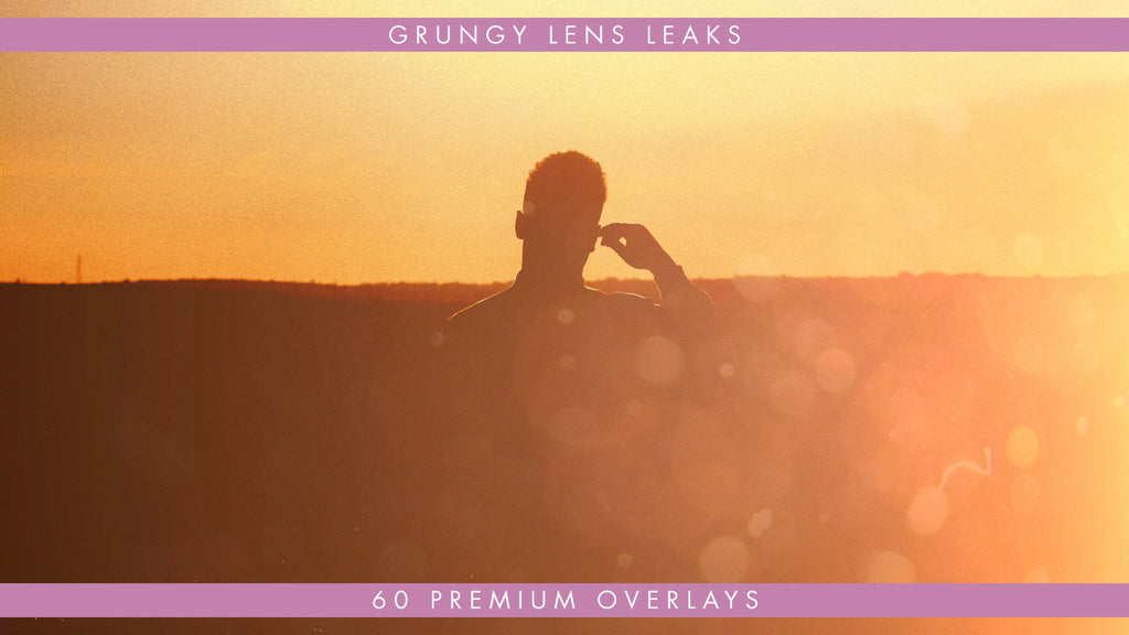 60 Premium Grungy Light Leaks for Film and Video