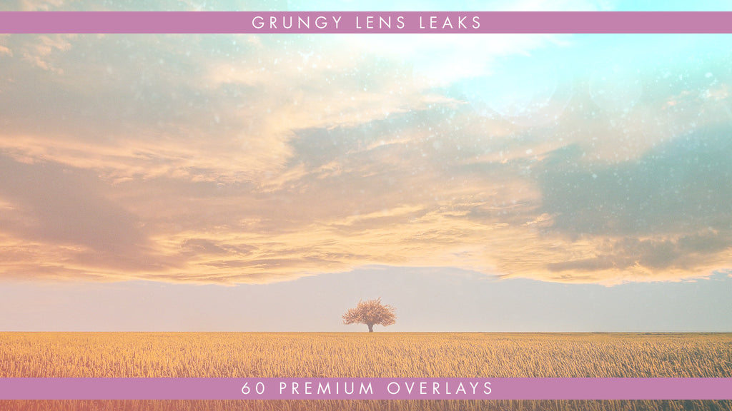 Premium Grungy Lens Light Leaks 60 Pack Available in 4k, HD, 30 & 60fps