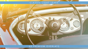 Classic Light Leak Overlays 60 Pack Available in 4k, HD, 30 & 60fps