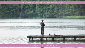 4K Photorealistic Rain Overlays for Film and Video