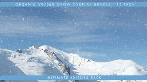 A premium collection of organic falling snow overlays in true VR360