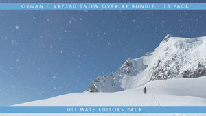 The VR360 Organic Snow Overlay Pack is Available in Monoscopic and StereoScopic 3D