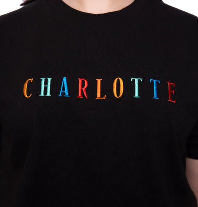 Embroidered Charlotte Vintage Fit Tee