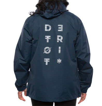 Detroit Glyph Windbreaker | Navy