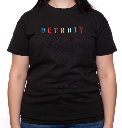 Embroidered Detroit Vintage Fit Tee | Black