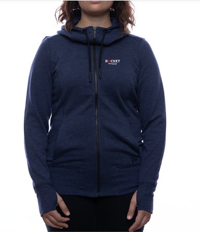 Rocket Mortgage New Era Zip-Up Hoodie (Women's Fit)