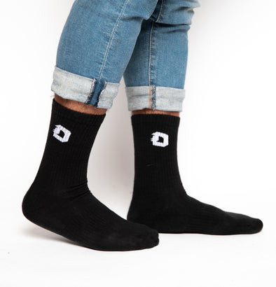 Blackletter D Socks