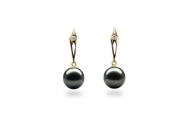 Spade Black Pearl Earrings-Kyllonen