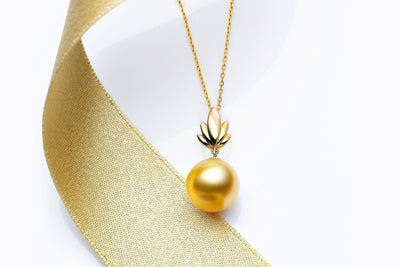 Bloom South Sea Gold Pearl Pendant-Kyllonen