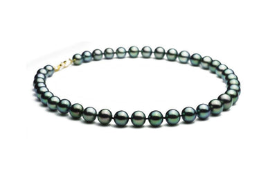 Gem Blue-Green Black Pearl Strand
