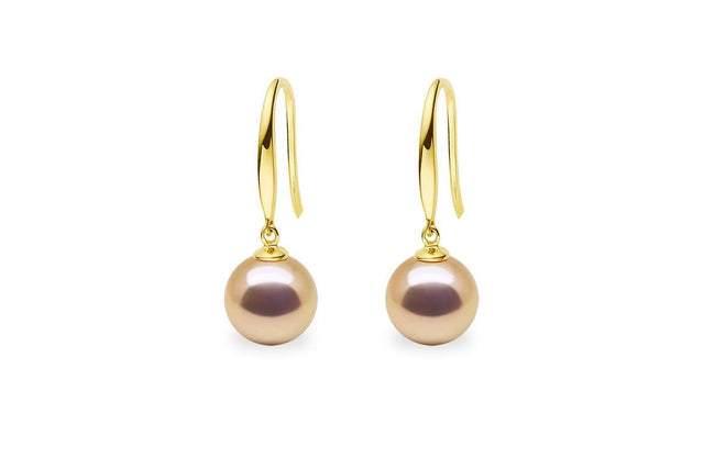 Ellipse South Sea Gold Pearl Pendant-Kyllonen