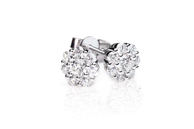 Cluster Diamond Earrings by Kyllonen