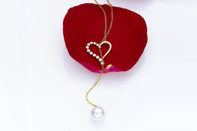 Through the Heart Akoya Pearl Pendant-Kyllonen