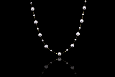 Akoya Double Pearl Necklace-Kyllonen