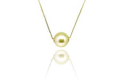 Solo Gold Pearl Necklace-Kyllonen
