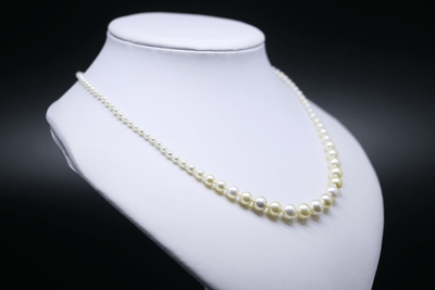 Graduated Akoya Pearl Strand Side