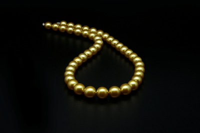 South Sea Dark Gold Pearl Strand-Kyllonen