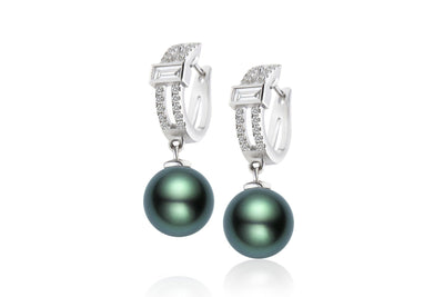 Paris Black Pearl Earrings