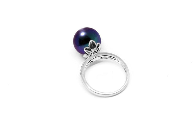 Bloom Black Pearl Ring-Kyllonen